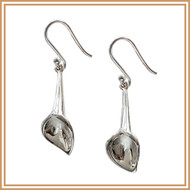 Sterling Silver Short Calla Lily Earrings
