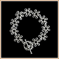 Sterling Silver Looping Flower Bracelet