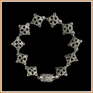 Sterling Silver and Marcasite Flower Bracelet
