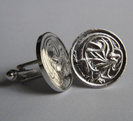 1985 Australian Sterling Silver Plated 2 Cent Coin Cufflinks – Birth Year 1985