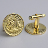 1979 Australian Gold Plated 2 Cent Coin Cufflinks – Birth Year 1979