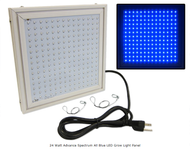 24 Watt Advance Spectrum All Blue LED Grow Light Panel *Free Shipping*
