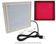 24 Watt Advance Spectrum All Red LED Grow Light Panel *Free Shipping*