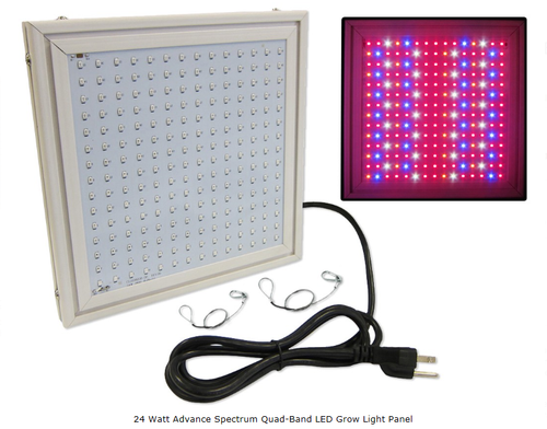 24 Watt Advance Spectrum Quad-Band LED Grow Light Panel *Free Shipping*