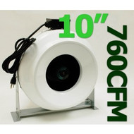 Gro1 10 Inch 720 CFM High Output In Line Duct Fan