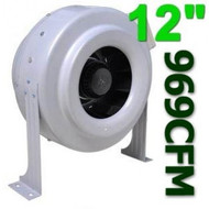 Gro1 12 Inch 720 CFM High Output In Line Duct Fan