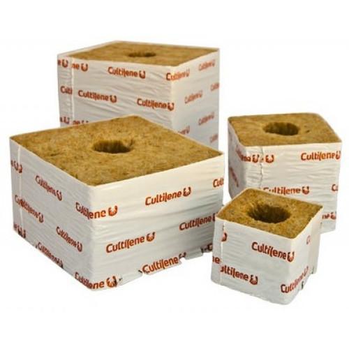 """6"""" x 6"""" x 5.3"""" Cultilene Rockwool Cubes (48pk)"""