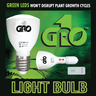 Gro1 Green LED Light Bulb/Flashlight - w/ Remote