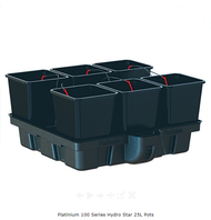 PLATINUM Pots - 100 Series by HydroPro - 25L Pots