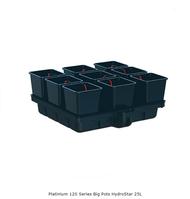 PLATINUM 120 Series BIG POTS HydroStar - 25L Pots