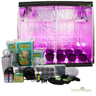 8x4ft LED Soil Complete Indoor Grow Tent System