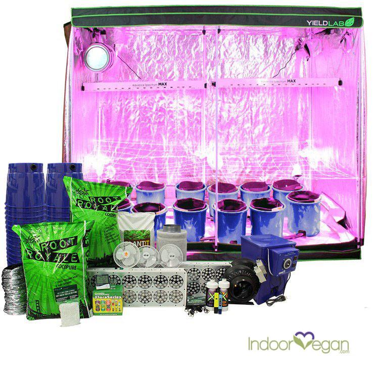 sc 1 st  IndoorVegan & Indoor Grow Tent System 8x4ft LED Hydro Complete   indoorvegan