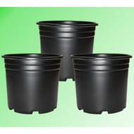 5 Gal. Plastic Grow Pot - Wide (3 pack)