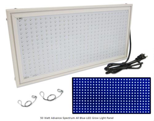 All Blue 50 Watt LED Advance Spectrum Grow Light Panel