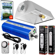 Yield Lab 600W HPS+MH Air Cool Hood Reflector Grow Light Kit - FREE SHIPPING