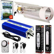 Yield Lab 600W HPS+MH Air Cool Tube Reflector Digital Grow Light Kit - FREE SHIPPING