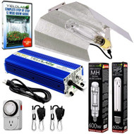 Yield Lab 600W HPS+MH Wing Reflector Digital Grow Light Kit - FREE SHIPPING