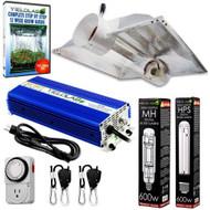 Yield Lab 600W HPS+MH Cool Tube Hood Reflector Grow Light Kit - FREE SHIPPING