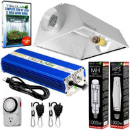 Yield Lab 1000W HPS+MH Cool Hood Reflector Grow Light Kit - FREE SHIPPING