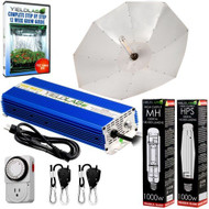 Yield Lab 1000W HPS+MH Umbrella Reflector Grow Light Kit - FREE SHIPPING