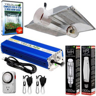 Yield Lab 1000w HPS+MH Cool Tube Hood Reflector Grow Light Kit - FREE SHIPPING