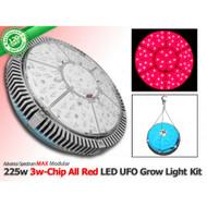 225 Watt Advanced Spectrum MAX 3w-Chip Modular ALL RED LED  U.F.O. Kit