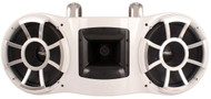 "Wet Sounds Dual 10"" Revolution EFG Fixed Clamp White Marine Tower Speaker"