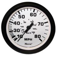 Faria 4 Speedometer - 80MPH (Mechanical) - Euro White