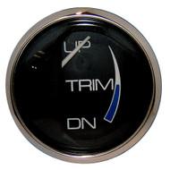 Faria Chesapeake Black 2 Trim Gauge (Mercury / Mariner / Mercruiser / Volvo DP / Yamaha-2001 and newer)