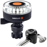 Navisafe Navilight 360 2NM White w/Navimount Base  Rail Mount - Black