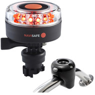 Navisafe Navilight All RED 360 2NM w/Navimount Base  Rail Mount - Black