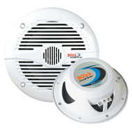 Boss Audio MR50W 5.25 Round Marine Speakers - (Pair) White