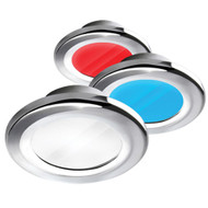 i2Systems Apeiron A3120 Screw Mount Light - Red, Cool White & Blue - Chrome Finish