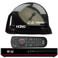 KING DISH Tailgater Pro Premium Satellite Portable TV Antenna w/DISH Wally HD Receiver