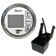 Faria 2 Dual Depth Sounder w/Air  Water Temp Transom Mount Transducer - Chesapeake SS White