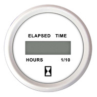 Faria 2 Hourmeter (Digital) 10,000 Hours 12-32VDC Dress White - Retail Package