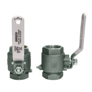 "GROCO 1"" NPT Stainless Steel In-Line Ball Valve"