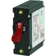 Blue Sea 7229 AC / DC Single Pole Magnetic World Circuit Breaker  -  50 Amp