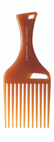 Pick Comb           •Lifts and adds volume without combing. Designed for curly or thick medium to long hair.  •A blend of Argan and Olive oils, plus Keratin protein infused plastic, glides through hair •Helps add shine and smoothness to hair •Reduces the appearance of frizz •Wont' leave residue on hands