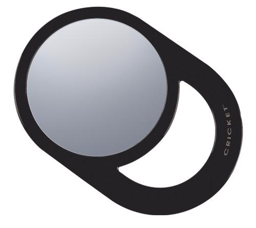 "Lightweight and useful • 6.75"" X 6.75"" image area • Stylish oval mirror • Functional handle • Black"