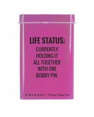 Life Status Tin/Bobby Pins