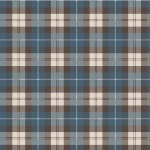 Designer Flannel - Blue-brown Plaid