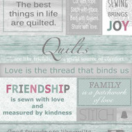 Words to Quilt By - Panel