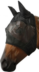 Showman Fleece Lined Fly Mask With Ears