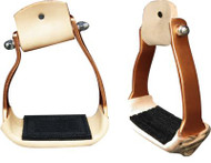 Showman Angled Copper Colored Aluminum Stirrups