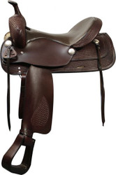 "16"" Double T Trail Style Saddle with Semi QH Bars"