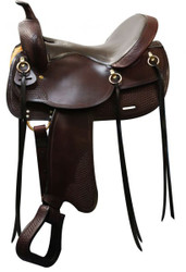 "16"" Double T Argentina Leather Trail Saddle"