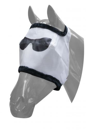 Brand New Showman Black Mesh Fly MasK with Ears and Removable Nose Fringe SMALL