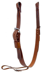 "Showman ® 1.75"" Wide Leather Back Cinch with Roller Buckles"