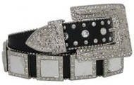 Showman Couture ™  Western style bling belt with removable buckle.